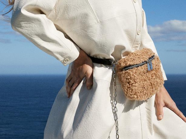 Marsupio Zara in finta pelliccia
