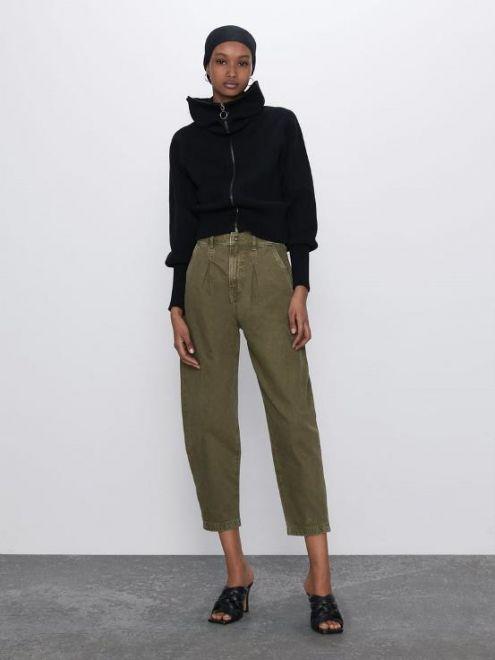 Jeans militare slouchy Zara