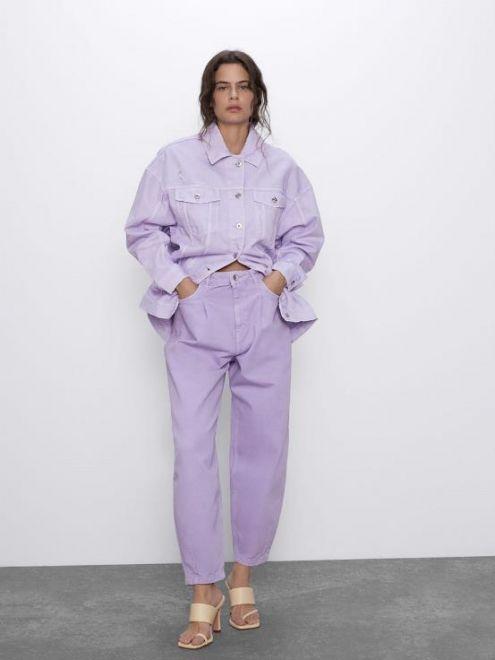 Zara, jeans lilla slouchy