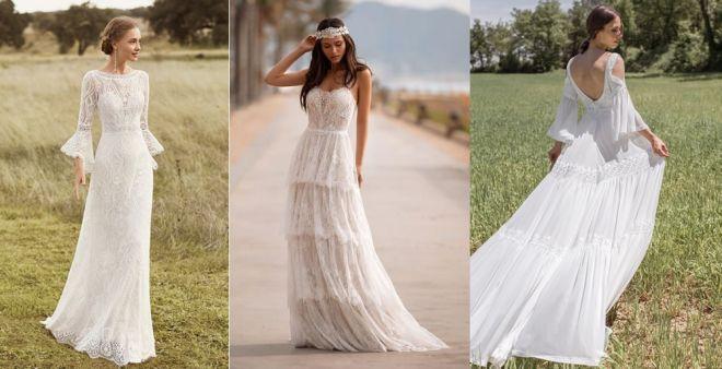 Abiti da sposa boho chic 2021: torna la tendenza glamour e raffinata