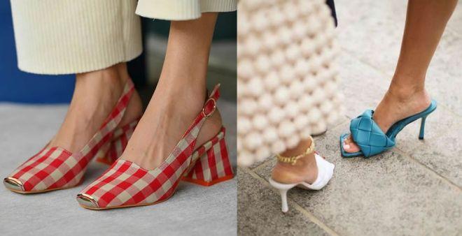 Le scarpe con punta quadrata sono la moda della primavera 2021