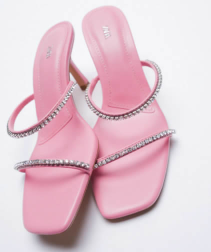 Zara, sandali rosa