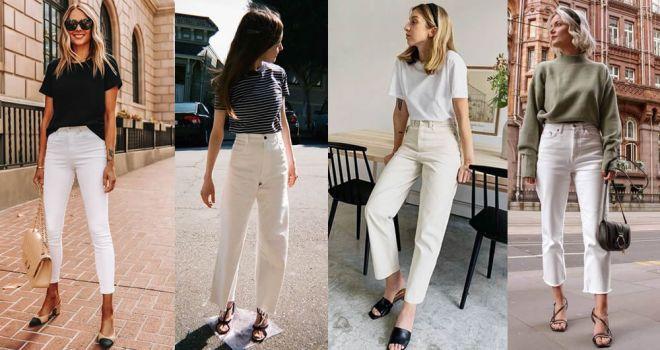 I jeans bianchi sono tornati di moda. Ecco come abbinarli per look super glamour