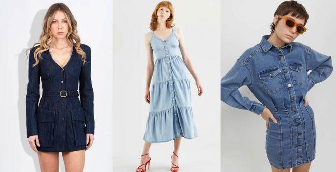 Gli abiti di jeans diventano i protagonisti della primavera 2021