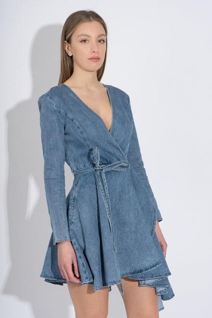 Wrap dress di jeans Miss Sixty