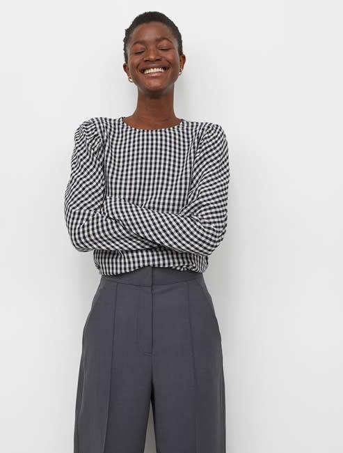 H&M, blusa vichy