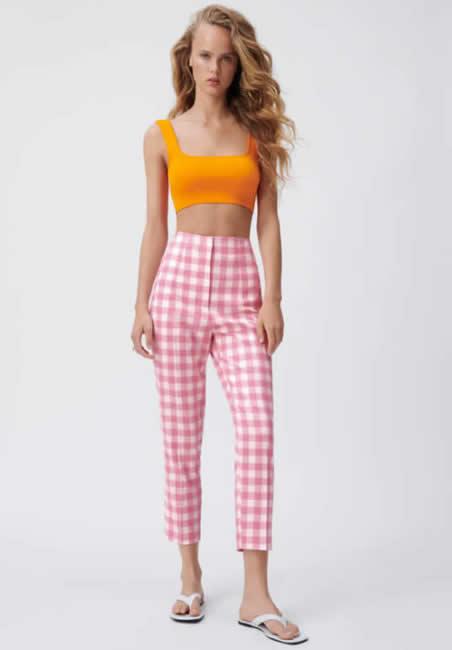 Zara, pantalone vichy