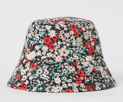 H&M, cappello floreale