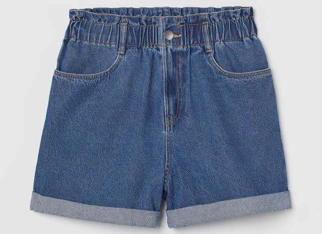 H&M, shorts arricciati
