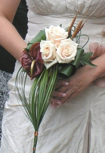 Bouquet Sposa Scettro.Foto Bouquet Forma Cascata