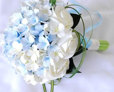 Matrimonio Azzurro Ortensia : Foto bouquet colore azzurro