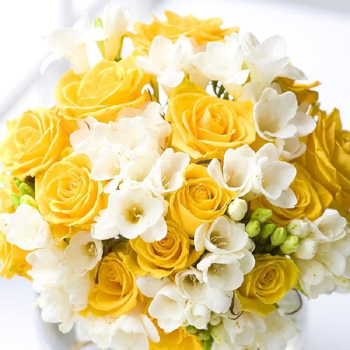 Bouquet Sposa Fresie.Foto Bouquet Tipo Di Fiori Fresie