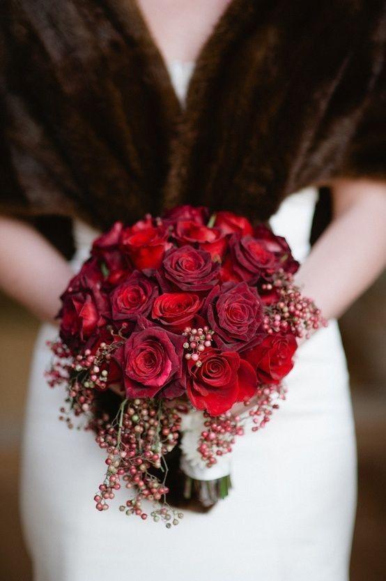 Bouquet Sposa Rosso.Foto Bouquet Colore Rosso