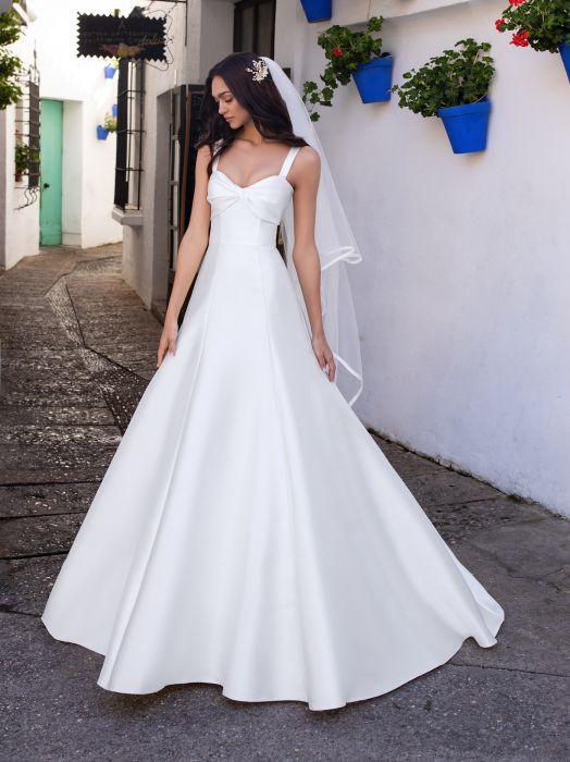 los angeles outlet in vendita comprare popolare Foto Abiti da sposa scollo Con spalline